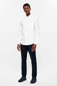 COS image 1 of Oxford cotton shirt in White