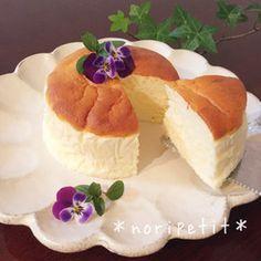 ふわぁ〜しゅわ♡ヨーグルトスフレケーキ♡ Sweets Recipes, No Bake Desserts, Delicious Desserts, Cake Recipes, Cooking Cake, Cooking Recipes, Cream Puff Recipe, Best Sweets, Baking And Pastry