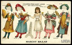 Bread Advertising Paper Doll Cut-Out     Children