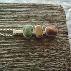 Sterling silver beach pebble necklace. Beach stone pendant. Sea stone jewelry. Sea lovers gift. Lovers Gift, Gift For Lover, Sea Glass Jewelry, Stone Jewelry, Pebble Stone, Beach Stones, Stone Pendants, Stone Necklace