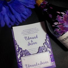 LASER CUT WEDDING INVITATION PURPLE Early Reservation Discounted Rate P 150.00 Regular Rate P 200.00 Minimum of 20 pieces SET includes (1) Main Invitation (1) Principal Sponsors (1) Secondary Sponsors (1) RSVP (1) MAP FREE SHIPPING WITHIN METRO MANILA
