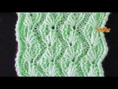 Cómo Tejer RAMOS DE FLORES - How to Knit Flowers - 2 agujas (383) - YouTube