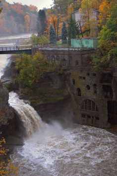Waterfall near Cornell University, Ithaca, NY