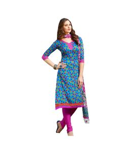 To Buy  Blue Printed Salwar Suit please click Below:- http://www.ethnicstation.com/blue-printed-salwar-suit-my1015  #PrintedSalwarSuit #DiscountSale