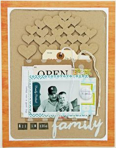 layout featuring our STORY HOUR kit by March guest designer Melissa Mann