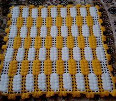 Manta Crochet, Crochet Art, Filet Crochet, Easy Crochet, Crotchet Patterns, Baby Knitting Patterns, Sewing Patterns, Woolen Craft, Crochet Table Runner