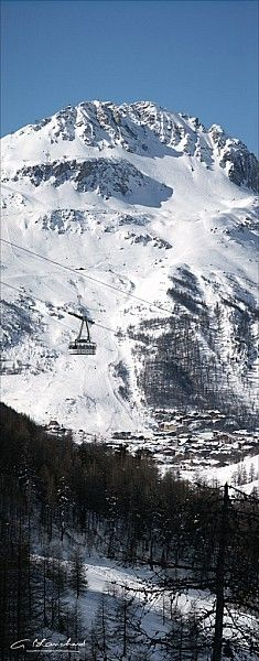 Val d'Isère, Alps.   The best skiing in the world. I was a SKIBUM there for one year. You can buy a SKIPASS there for one year.