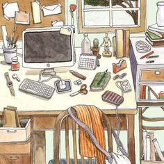 Daily life / illus by SUNTUR YOZANUN, via Behance