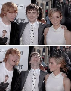 Rubert Gint ~ Daniel Radcliffe ~ Emma Watson #Harrypotter