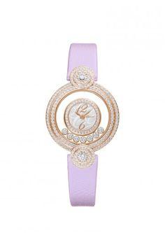 HAPPY DIAMONDS ICONS WATCH 18-KARAT ROSE GOLD AND DIAMONDS $34,340