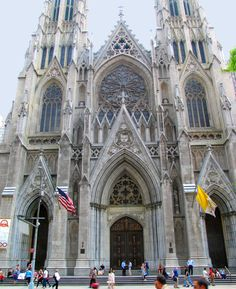 It's St Patrick Cathedral. It's the most famous cathedral in New York.