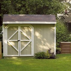 Storage Shed DIY | Before you start building your new backyard shed, check out this helpful plan from #RONA. #airmiles #cleaning