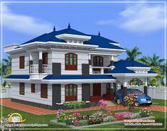 contemporary house designs | ... sq.feet 4 bedroom villa design ...