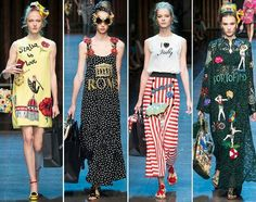 Dolce & Gabbana spring and summer 2016 Milan Fashion Week / Italy is love