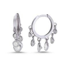 Shop Huggie Earrings | CZ Coin Disc Hoop Earrings by Liliana Skye #huggies #earrings #minihoops