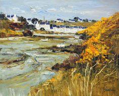 Post Impressionism, Impressionist Art, Landscape Art, Landscape Paintings, Landscapes, Art Plage, French Artists, Beach Art, Les Oeuvres