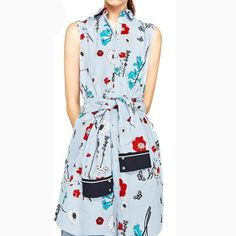 Cute Floral Printed Dress Ladies Dresses Bohemian Country Style Sleeveless All Match New Fashion Summer Dress With Sashes #Affiliate