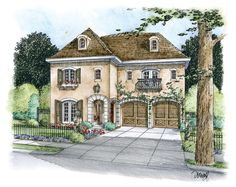 ePlans European House Plan – French Country Elegance – 4066 Square Feet and 4 Bedrooms from ePlans – House Plan Code HWEPL76306