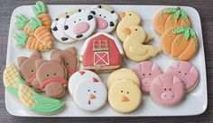 Re: Farm Animals cookies Farm Cookies, Cookies For Kids, Sugar Cookies, Farm Animal Birthday, Farm Birthday, Barnyard Party, Farm Party, Farm Cake, Baby Shower Cookies
