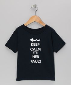 Take a look at this Navy It's Her Fault Tee - Toddler & Kids by Donkey Tees on #zulily today!