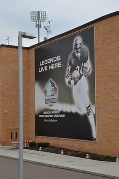 at the NFL Hall, Canton
