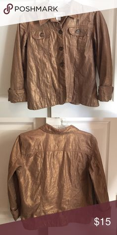 Coldwater Creek Metallic Jaquard Jacket This pretty lightweight jacket is in EUC and perfect for the Fall. Coldwater Creek Jackets & Coats