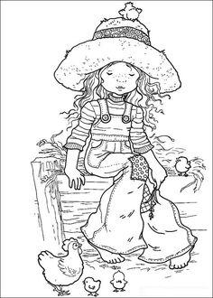 Sarah Kay Kleurplaten voor kinderen. Kleurplaat en afdrukken tekenen nº 5