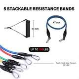 11pcs Resistance Band Set   1st In Health– 1stInHealth Upper Body Weight Workout, Gym Workouts Women, You Fitness, Ankle Straps, Build Muscle, Band, Health, Weight Loss, Exercise