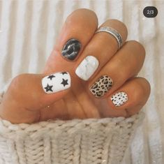Acrylic Nails Coffin Short, Simple Acrylic Nails, Fall Acrylic Nails, Simple Nails, Cute Gel Nails, Pretty Nails, Western Nails, Acylic Nails, Cute Acrylic Nail Designs