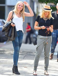 Tiffany Trump and her mother Marla Maples seen out in Soho in NYC