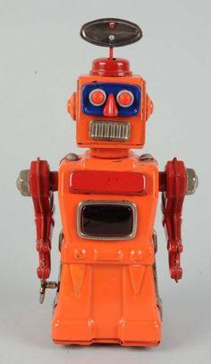 Japanese Tin Litho Tremendous Mike Robot. : Lot 499