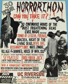 1970′s thirty hour Horrorthon poster.