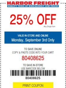 Harbor Freight 30 Off Coupon Code August 2019 Free Items Print Coupons Coding Coupons