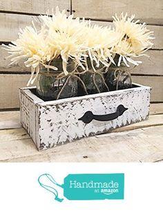 Rustic Reclaimed Wood Box, Wooden Painted Drawer, Reclaimed Box Crate, Mason Jar Centerpiece, Jars from The Appalachian Artisans https://www.amazon.com/dp/B01LYQ6WWU/ref=hnd_sw_r_pi_dp_WAT7ybBJNMAWS #handmadeatamazon
