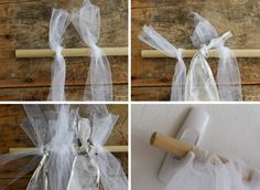 Great idea for using dowel and hanging removable from wall for photo backdrop and table scape back drops DIY pretty