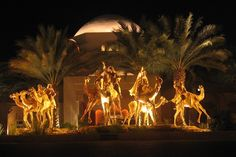 Camel Caravan sculpture at the Palace at One Royal Mirage - Dubai, UAE (MM)