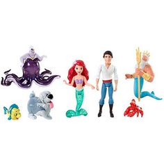 Disney Princess Little Kingdom The Little Mermaid Story Set to put inside fish bowls for tablescape   $15