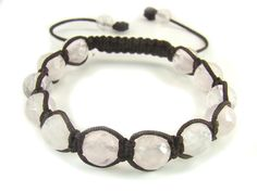 BB0537N Rose Quartz Round Faceted Gemstone Healing Natural Crystal Shamballa Chinese Knot Bracelet - See more at: http://waggashop.com/wagga-shop-bb0537n-rose-quartz-round-faceted-gemstone-healing-natural-crystal-shamballa-chinese-knot-bracelet