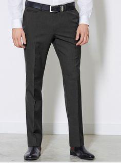 Skinny-Hose ohne Bundfalte  55% Polyester, 45% Wolle....