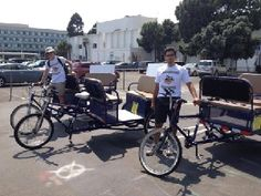 Santa Monica's first pedicabs hit the streets!