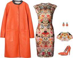 McQueen Multicoloured Floral Merino Wool Dress