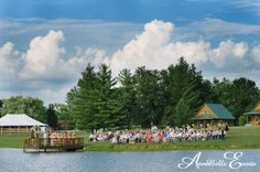 Outdoor wedding by a lake | AnnaBelle Events