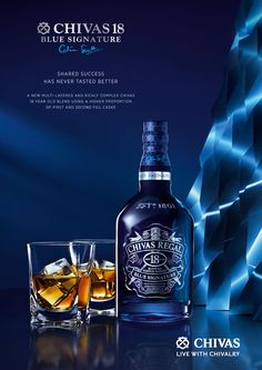 Key Visual Chivas Regal 18 Blue Signature exclusive edition Vietnam Concept & Art Direction by Chic Photoshoot and Retouching by Les ateliers Alcohol Bottles, Liquor Bottles, Vodka Bottle, Drink Bottles, Whiskey Bottle, Cigars And Whiskey, Whiskey Drinks, Scotch Whiskey, Chivas Whisky