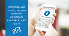 Ajura's automated VOICE BROADCAST feature allow businesses to communicate marketing messages to their customers. Target Customer, Text Messages, The Voice, Campaign, Marketing, Text Messaging, Texting, Texts