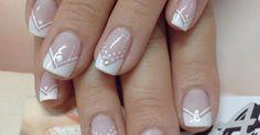Nails noivas arte nails, french nails y pretty nails French Manicure Nails, French Tip Nails, Manicures, Trendy Nail Art, Easy Nail Art, Fabulous Nails, Gorgeous Nails, French Nail Designs, Nail Art Designs
