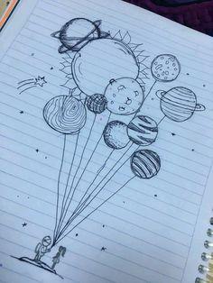 Pin de 🤪 em art ♡ em 2019 art sketches, art drawings e doodle art. Space Drawings, Pencil Art Drawings, Cool Art Drawings, Art Drawings Sketches, Easy Drawings, Tattoo Drawings, Tattoo Sketches, Cute Drawings Tumblr, Simple Cute Drawings