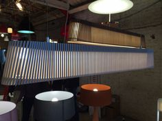 Plywood rectangular lamp shades perfect for reception counters or dinning tables.