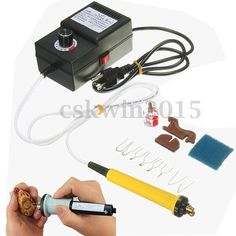 25W 110V Gourd Wood Multifunction Pyrography Machine Heating Wire Pen Kit Tool