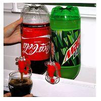 Un distributeur de boissons gazeuses