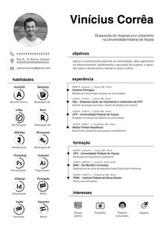 Resume Curriculum Vitae Architecture Urbanism - - If you like this design. Check others on my CV template board :) Thanks for sharing! Graphic Design Resume, Cv Design, Resume Design Template, Resume Templates, Cv Template Student, Logo Design, Portfolio D'architecture, Portfolio Resume, Portfolio Examples